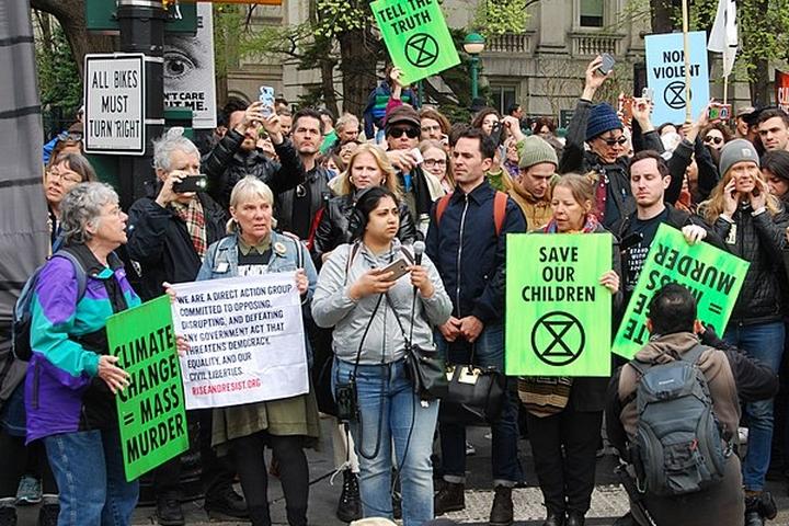 הפגנה למען האקלים בניו יורק (צילום: Felton Davis)