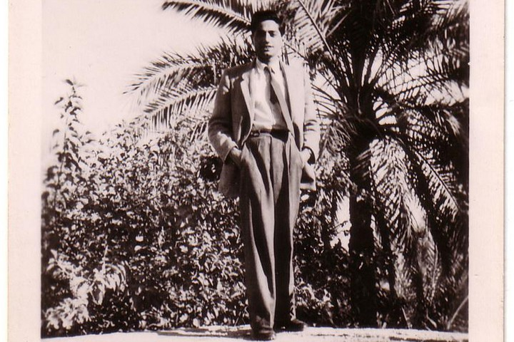 יצחק בן משה בעיראק (צילום: באדיבות משפחת בר משה)