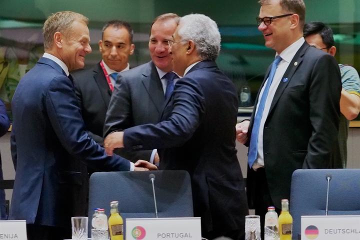 ראש ממשלת פורטוגל, אנטוניו קושטה, בפגישה במועצה האירופית בבריסל, ב-2017 (צילום: המועצה האירופית)