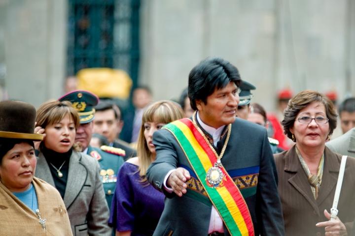נשיא בוליביה אוו מוראלס (צילום: Joel Alvarez)