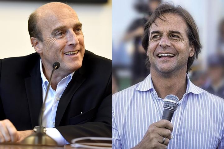 המתמודדים על נשיאות אורוגוואי, דניאל מרטינז (משמאל) ולואיס פואו (צילומים: Intendencia de Montevideo ו-David Puig)
