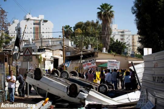 הפגנה בשכונה בכניסת צווי פינוי ל- 30 משפחות לתוקף.