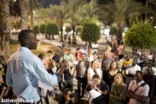 מוטסים עלי באירוע התמיכה בו בגינת לוינסקי (צילום: אורן זיו / אקטיבסטילס)