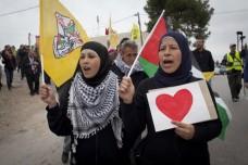 הפגנה לא אלימה בכפר נבי סלאח (צילום: אקטיבסטילס)