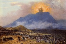 משה על הר סיני. ציור מאת ז'אן-לאון ז'רום, סוף המאה ה-19.