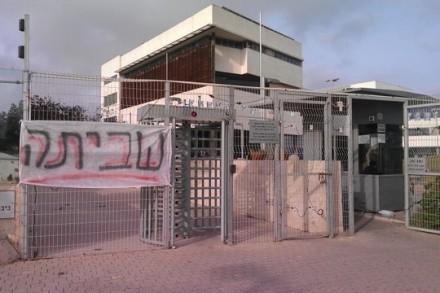 שביתה באקדמית תל אביב-יפו. (צילום: שרון חג'בי)