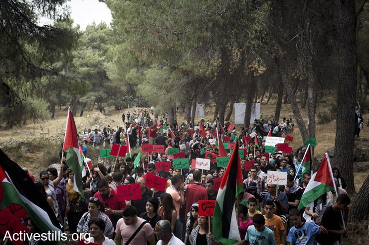מעל 15,000 פלסטינים אזרחי ישראל ותומכים צעדו בתהלוכת השיבה לכפר הפלסטיני ההרוס לוביה, ה- 6 למאי, 2014. (אקטיבסטילס)