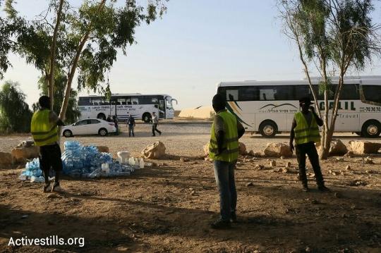 אוטובוסים שיפנו את מבקשי המקלט (אורן זיו / אקטיבסטילס)