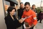 """ח""""כ זועבי בכפר מנדא בקמפיין הבחירות של 2013 (צילום: GS)"""