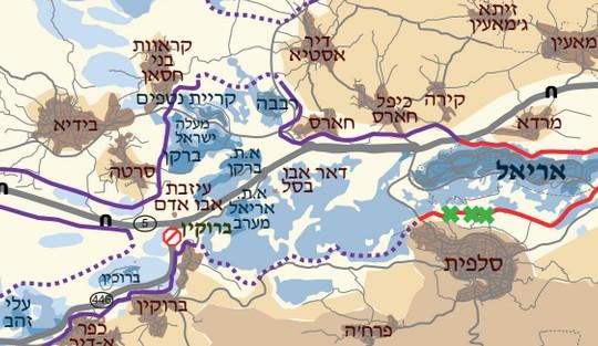 מפת אזור בידיא  (בצלם)