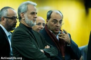 """ח""""כ אחמד טיבי ואיברהים צרצור (צילום: יותם רונן / אקטיבסטילס)"""