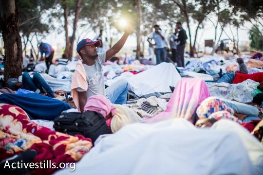 התעוררות במחנה המחאה (יותם רונן / אקטיבסטילס)