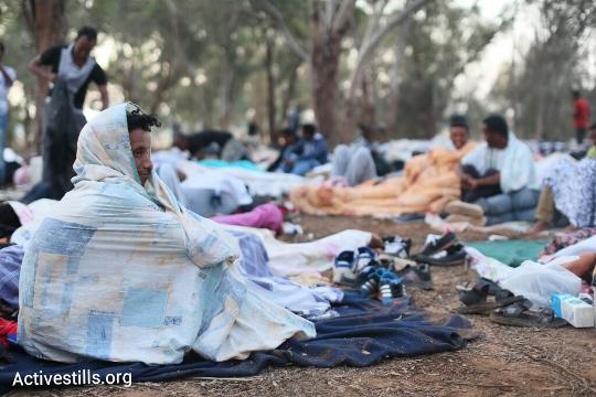 מבקשי מקלט מתעוררים בקרבת הגבול עם מצרים (אורן זיו / אקטיבסטילס)