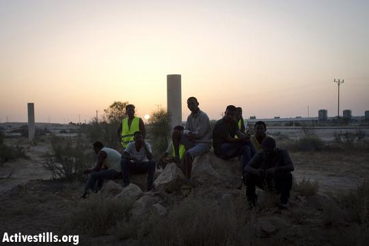 שקיעה במחנה המחאה בניצנה (אורן זיו / אקטיבסטילס)