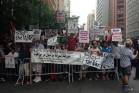 הפגנה נגד התקיפה הישראלית (צילום: יעל אבן אור)