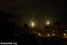 התקפה ישראלית לילית על עזה (אן פאק/אקטיבסטילס)