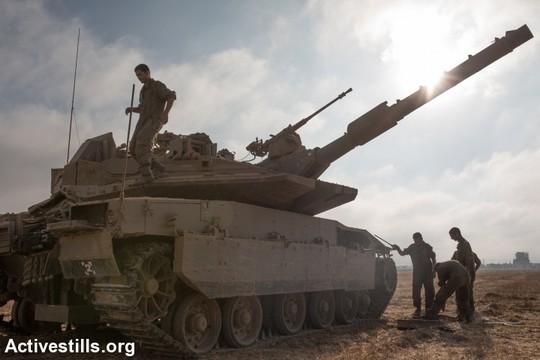 טנק על גבול ישראל-עזה (אקטיבסטילס)