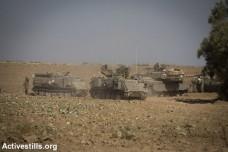 משורינים על גבול ישראל עזה (צילום: אורן זיו/אקטיבסטילס)