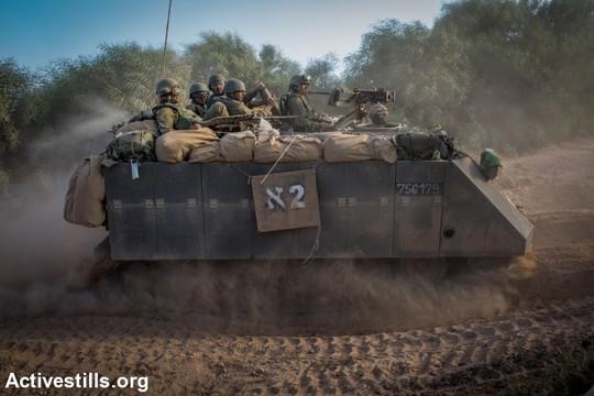 גבול ישראל-עזה, צוק איתן 9 ביולי 2014 (צילום: אקטיבסטילס)