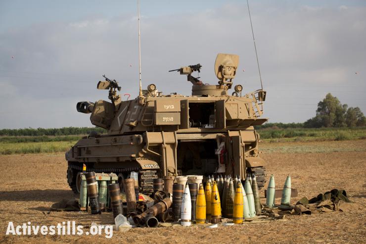 ארטילריה ישראלית על גבול ישראל-עזה, ה-13 ליולי, 2014 יותם רונן/אקטיבסטילס