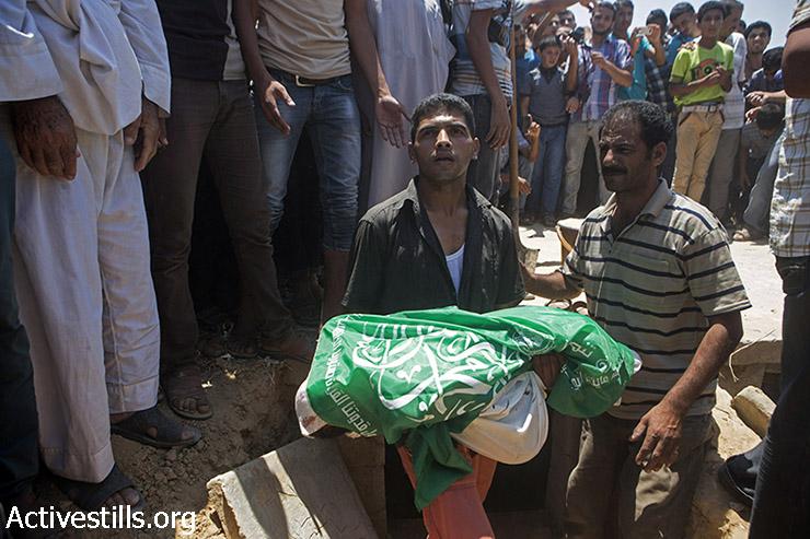 רוב בני המשפחה שמתו בהפצצה היו ילדים. מאז תחילת המבצע הצבאי הרגה ישראל 130 ילדים בעזה (אן פק/אקטיבסטילס)