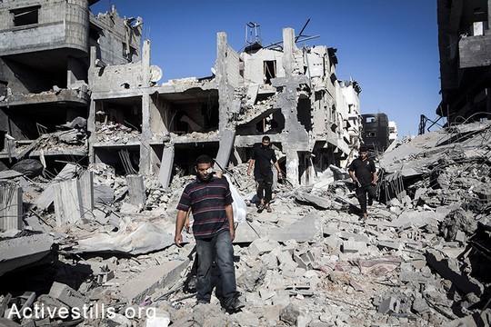רובע הרוס בשכונת שג'אעיה במזרח העיר עזה, 26 ביולי 2014