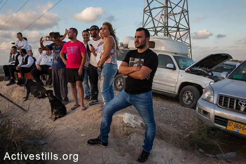 ישראלים צופים בשיגורי טילים לישראל ובפיצוצים בעזה, ה-15 ליולי, 2014. אורן זיו/אקטיבסטילס