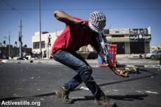 הפגנה בעקבות מותו של מוחמד אבו ח'דיר, שועפאט, ירושלים המזרחית (צילום: אקטיבסטילס)