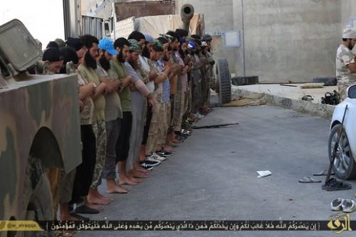 תפילה (צילום: המדינה האסלאמית)