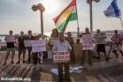הפגנה מול שגרירות ארצות הברית בתל אביב בסולידריות עם היזידים, הנוצרים והכורדים בעיראק שסובלים מרדיפה ומאלימות (צילום: יותם רונן/אקטיבסטילס)