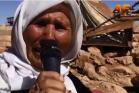 אישה מקהילת היזידים במפלט הזמני על ההר (צילום מסך מסרטון, הקליפ המלא בפנים)