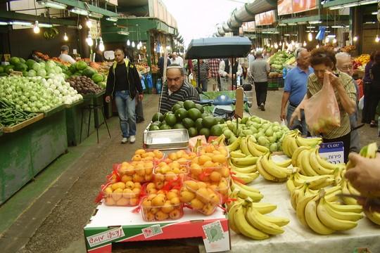 ירקות בשלל צבעים בשוק התקווה (צילום: ויקימדיה קומונס, אבישי טייכר CC BY 2.5)