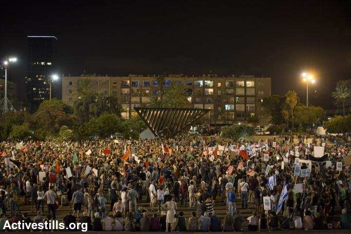 מעל עשרת אלפים מפגינים בעצרת הגדולה ביותר נגד הכיבוש מזה שנים (אורן זיו / אקטיבסטילס)