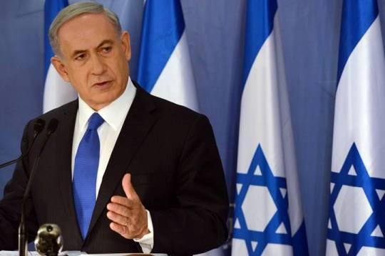 """ראש הממשלה נתניהו במהלך מסיבת עיתונאים במבצע """"צוק איתן"""" (צילום: לע""""מ)"""