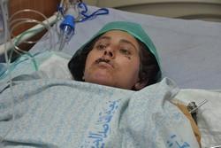אסמא בת ה-37 מחאן יונס. קרוב לחמישים מבני משפחתה נהרגו. (צילום: יעל מרום)