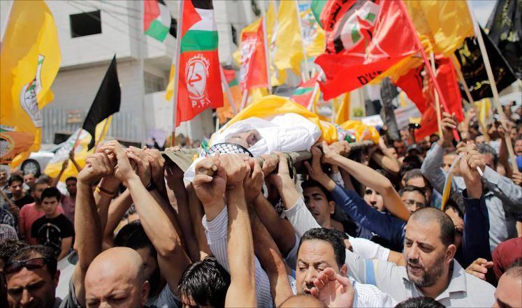 הלוויתו של נאדר מוחמד אידריס, חברון (עימאד אבו-שמסה)