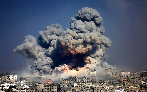 הפצצה צבאית בעזה (מוחמד סאבר)