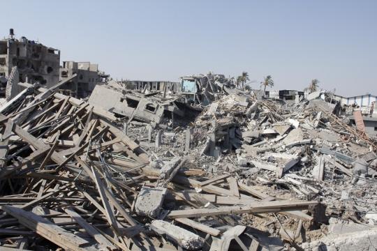 הריסות בית החולים אל-ואפא (סאמר בדאווי)