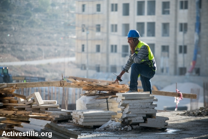 עבודה ערבית. בנייה ברוואבי (יותם רונן / אקטיבסטילס)