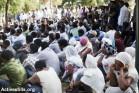 מבקשי מקלט אריתראים בישראל במהלך טקס לזכר קורבנות מחנות העינויים בסיני (אורן זיו/אקטיבסטילס)
