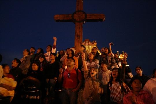הפגנת תומכי זאפאטיסטים, סן קריסטובל, צ'יאפאס, מקסיקו (חגי מטר)