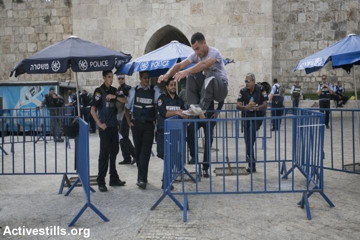 מחסומי משטרה בעיר העתיקה ירושלים. צילום: פאיז אבו-רלמה, אקטיבסטילס