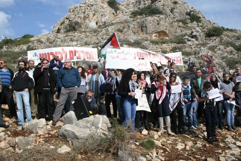 הפגנת תמיכה בעומר סעד ואוריל פררה מחוץ לכלא 6 (חגי מטר)