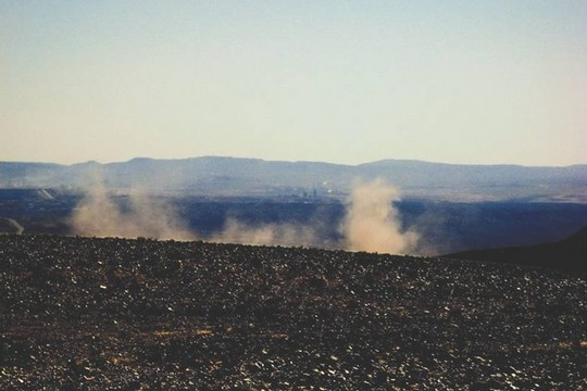 פיצוץ במכרה בריר (צילום: דב פוניו)