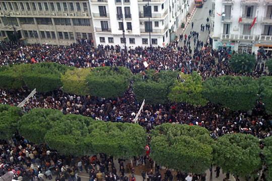 המהפכה בתוניסיה 2011 (צילום: ויקימדיה VOA /L. Bryant)