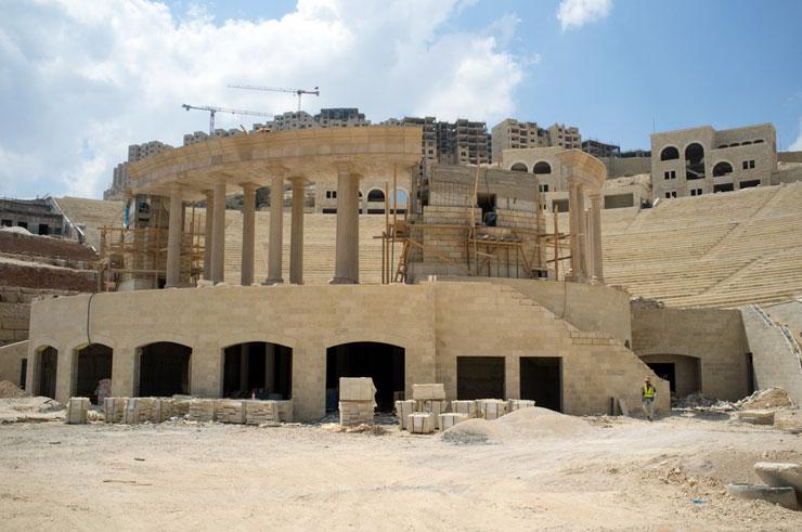 האמפיתאטרון הרומי באתר הבנייה רוואבי (Ben Drusinsky)