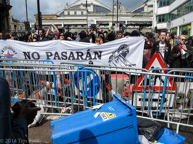 המודל האירופי. הפגנה אנטי-פשיסטית (Tim Buss CC BY 2.0)