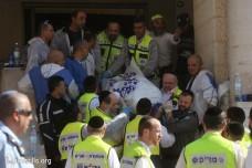 זירת הפיגוע בבית הכנסת בשכונת הר נוף (אורן זיו/אקטיבסטילס)