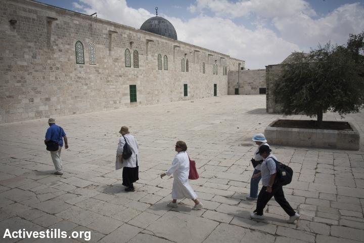 סיור של אנשי תנועת הר הבית בין המסגדים, 2009 (אורן זיו / אקטיבסטילס)