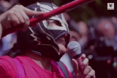 הפגנה לשחרורה של יקירי רוביו (צילום מסך מתיעוד של MásDe131)